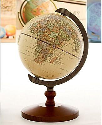 "5/"" Vintage BLACK World Map Globe Decorative Tiny Desktop Rotate Geography Globe"