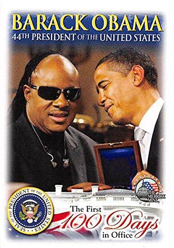 Barack Obama & Stevie Wonder trading card (44th President of the United States) 2009 Merrick Mint #12 Autograph Warehouse