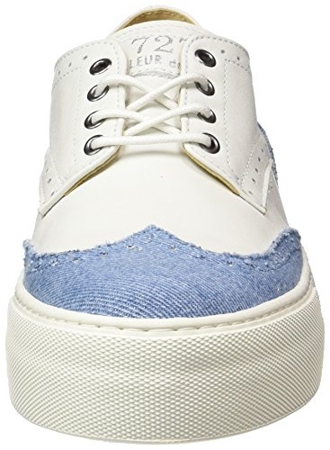 denim Luxe Basses Sneakers Funchal Femme Cycleur white De Mehrfarbig pq7WT