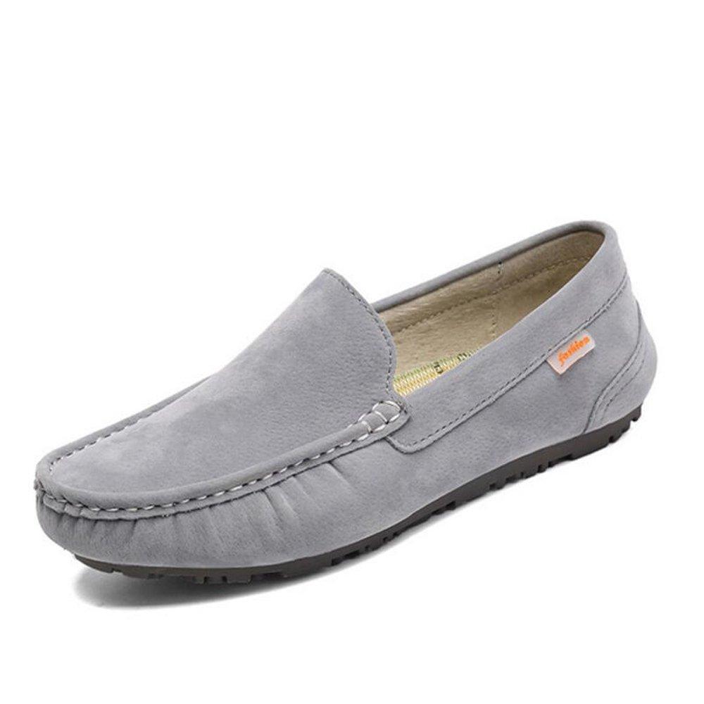 Sommer Neue Leder Casual Herrenschuhe Herrenschuhe Peas Schuhe Trend Faul Schuhe Schwarz Grau Braun