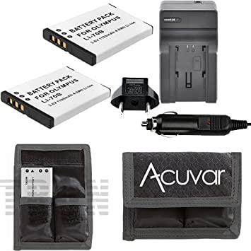 Amazon.com: 2 pilas recargables Li-70B para Olympus + cámara ...