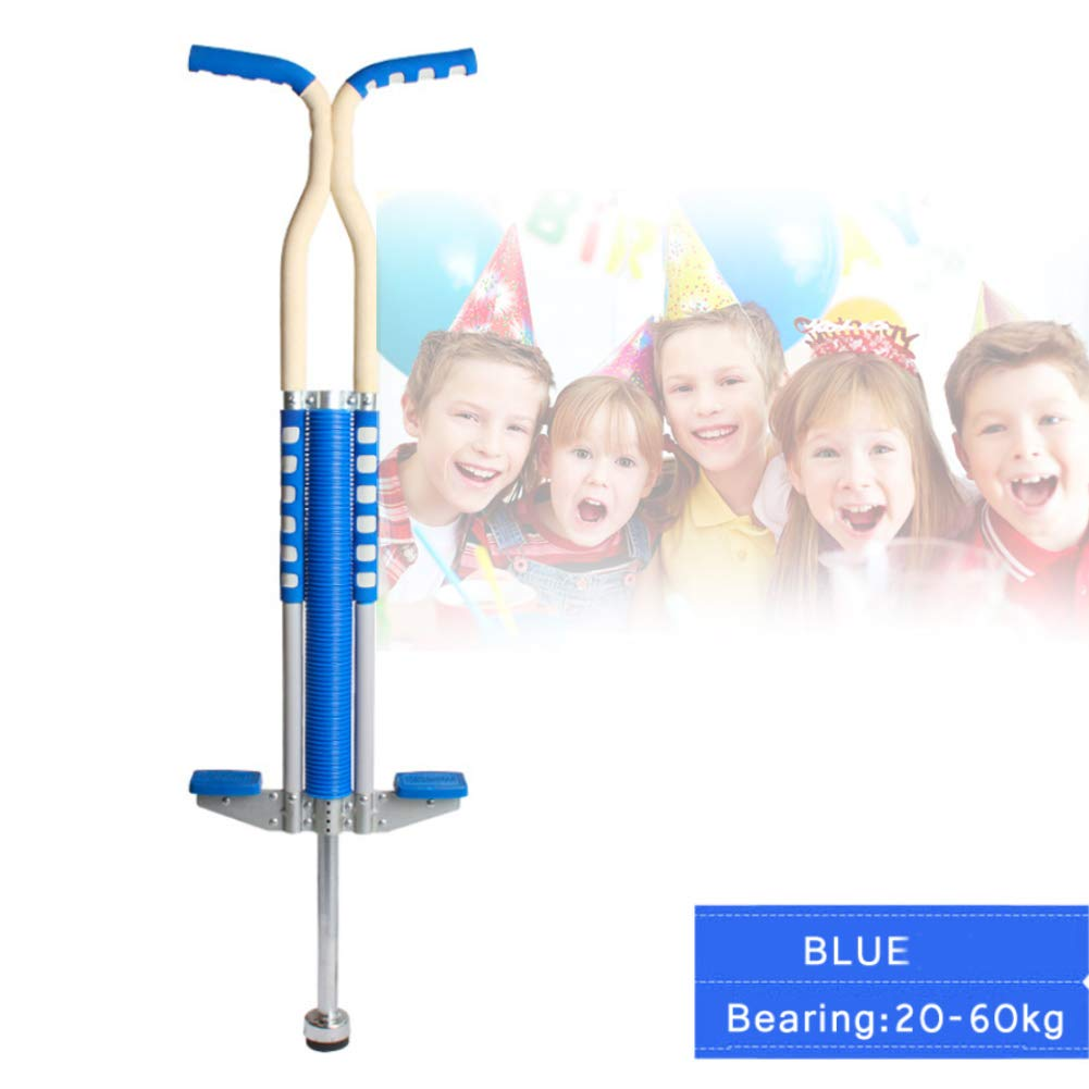 Pogo Stick Spring Rod Bounce Stick Anti-Slip Foam Handle for Children Adults Outdoor Play,Blue by SVNA (Image #1)