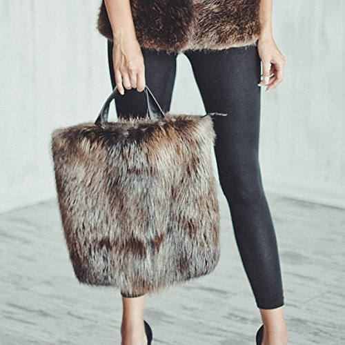 (Real Beaver Fur Purse/Real Fur Bag/Fur Clutch/Fur Purse/Evening Fur Bag/Winter Wife Gift/Evening Sexy Dress Valentine's Gift)