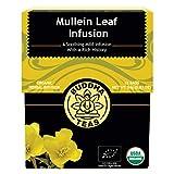 Organic Mullein Leaf Tea - Kosher, Caffeine-Free, GMO-Free - 18 Bleach-Free Tea Bags