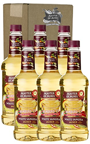 Master of Mixes White Sangria Drink Mix, Ready To Use, 1 Liter Bottle (33.8 Fl Oz), Pack of 6 (Coco And Ice T Halloween Costumes)