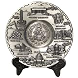 Great Seal Monuments Pewter Plate with Display Stand