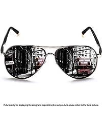 Polarized Aviator Sunglasses for Men Women Metal Flat Top...