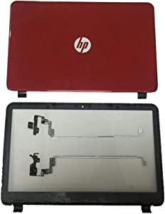 Replace for HP 15G 15R 15-R030wm 15-R132wm 15-G227wm 15-G068CL 15-G273NR 15-G081NR Red Shell LCD Back Cover Top Base Rear lid & Bezel & Hinges