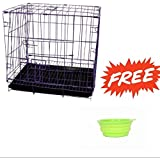 SRI Imported High Quality Dog Cage for Dog with Removable Tray, Purple