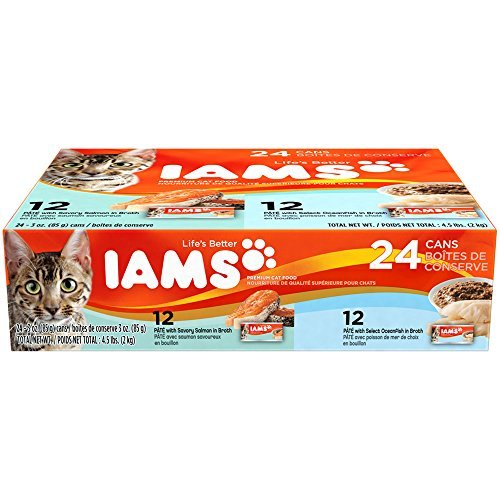 IAMS Pate Variety Pack Salmon & Oceanfish Canned Cat Food 3 oz. (Pack of 24) by Iams Cat Wet Food