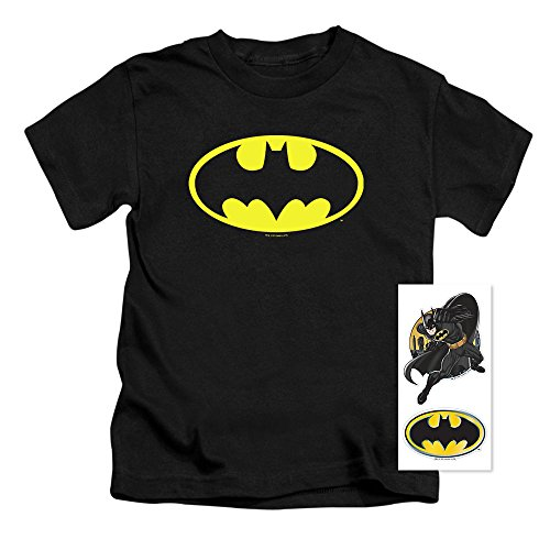 Batman Products : Juvenile Batman Classic Logo T Shirt & Exclusive Stickers