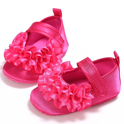 Zapatos de bebé Auxma Suela suave del bebé ningunos zapatos del niño del resbalón Princesa Zapatos Por 3-12 meses Rojo