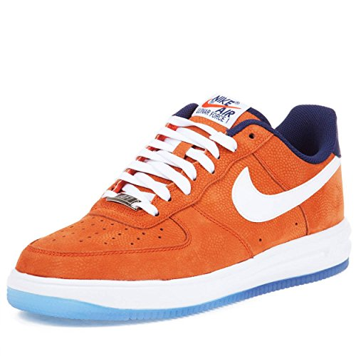 Nike Mens Lunar Force 1 '14 WC QS Team Orange Leather basketball-shoes Size 13
