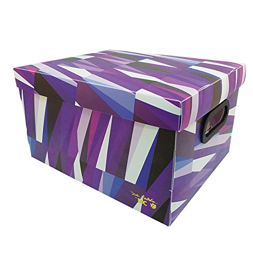 Small Colorful Purple Pattern Muti-Purpose Decorative Storage or Organizer Box w/Lid