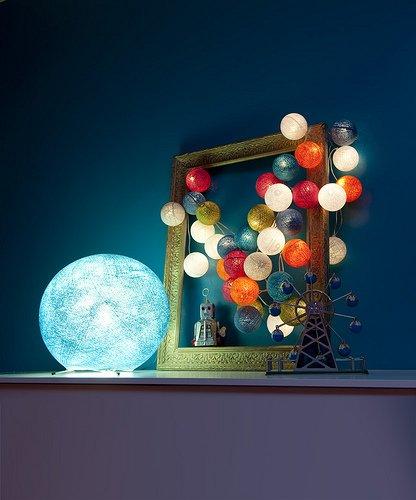 La Case De Cousin Paul Lampe Kugel Zum M Durchmesser 36 Cm Beige