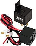 Vixen Horns 4-PIN Horn Relay 30A/12V with 4-PIN Pre-wired Quick Connect Relay Plug/Socket VXK7801