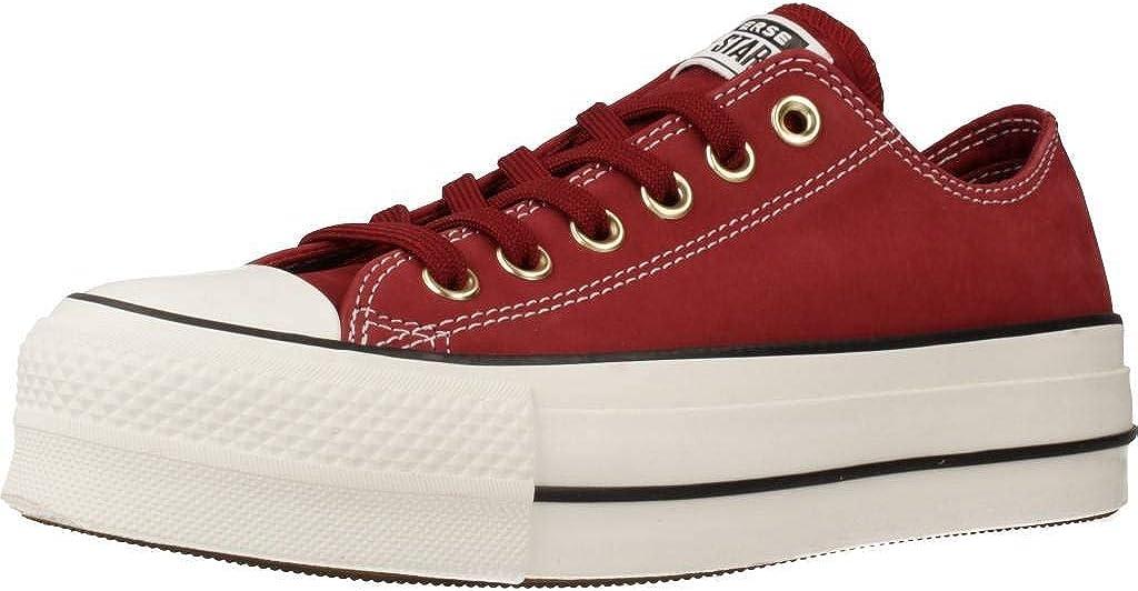 Calzado Deportivo para Mujer, Color Rojo, Marca CONVERSE, Modelo Calzado Deportivo para Mujer CONVERSE Chuck Taylor All Star Lift Rojo