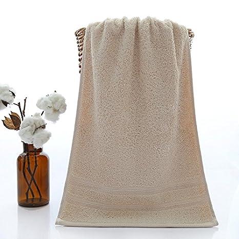 LybMaoJ Toalla Larga algodón de Color sólido Algodón Satinado, Lavado de Lima, marrón, 35 * 75: Amazon.es: Hogar