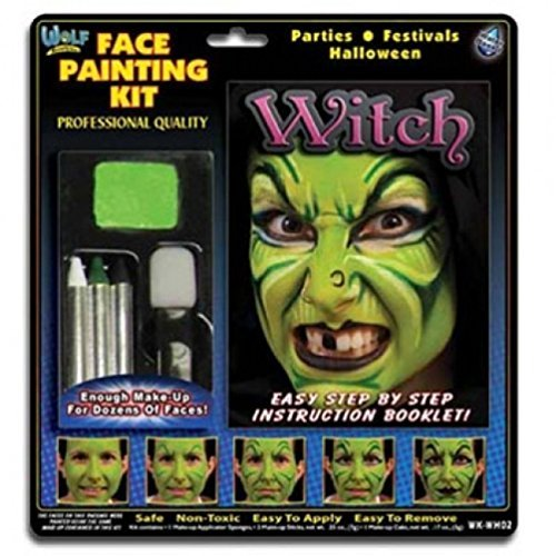 Wolfe FX Kits - Witch (4 (Kids Halloween Witch Face Paints)