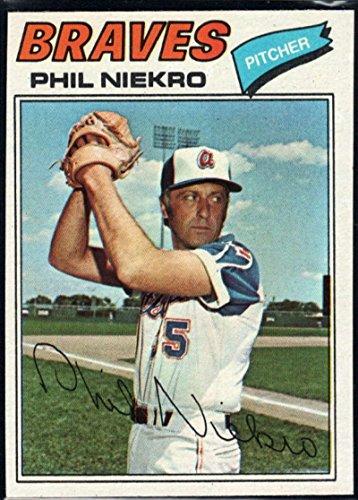Baseball MLB 1977 Topps #615 Phil Niekro Braves