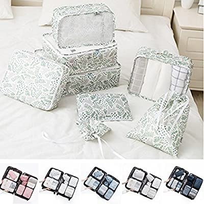 K&A Company 8PCS/Set Travel Luggage Organizer Storage Pouches Suitcase Packing Bags, 1
