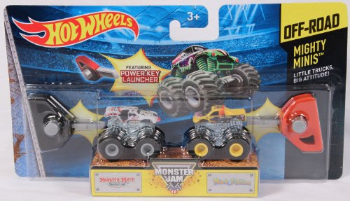 Hotwheels Monster Jam Off-road Mighty Minis - Monster Mutt Dalmation & Black Stallion