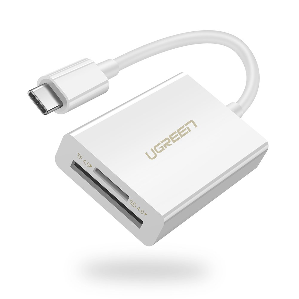 UGREEN USB C Card Reader for Galaxy S9 Plus, USB 3.1 Type C SD UHS-II Dual Slot OTG Card Adapter for Micro SD, UHS-II, UHS-I,Macbook Pro,Google Pixel,Samsung S8 Note9 8,Nexus 5X 6P,LG G7 G6 G5 V20 V30