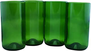 product image for Tumblers Made From Recycled Wine Bottles - set of 4 (Dark Green, 16 Oz)