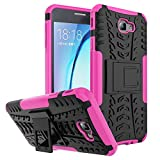 Office Products : Galaxy On7 2016 Case, Galaxy J7 Prime Case, VPR [Stand] Premium Dual Layer Shockproof Impact Protection Tough Rugged Protective Case with Kickstand for Samsung Galaxy J7 Prime / On7 2016 (Rose)