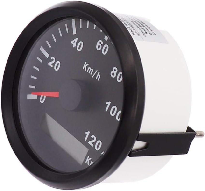ELING GPS Speedometer Odometer 120KM//H for Auto Marine UTV 85mm 12V//24V with Backlight