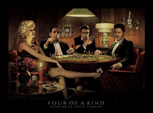 Four of a Kind Chris Consani Movie Stars Poker Print Poster (Chris Consani Game)