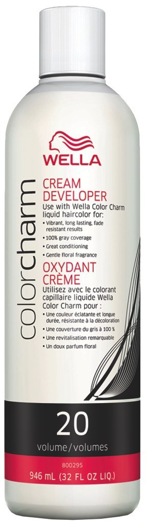 Wella Color Charm Cream Developer 20 Volume 32 oz. (Pack of 3)
