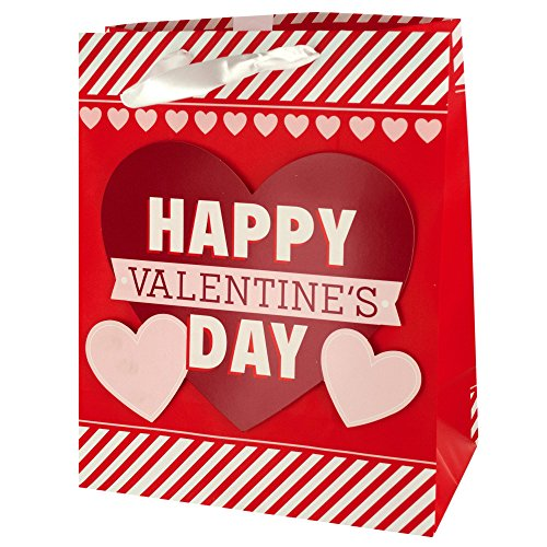 123-Wholesale - Set of 36 Valentine's Day Striped Gift Bag - Gift Wrapping Gift Bags