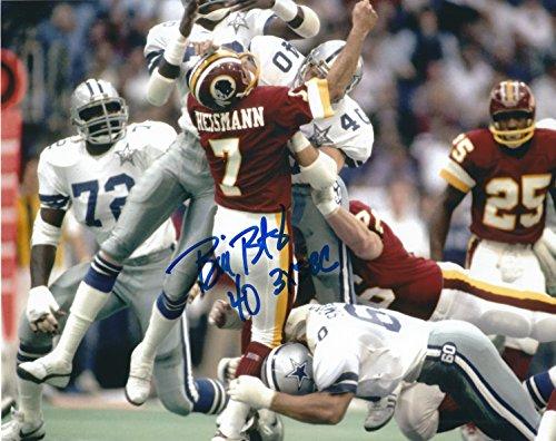 Autographed Bill Bates Dallas Cowboys 8x10 photo - w/COA