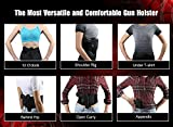 Belly-Band-Holster-KKUP2U-Adjustable-Waist-Gun-Holster-for-Men-and-Women-Fits-Ruger-LCP-Glock-17-19-4243-Sig-Sauer-MP-Shield-and-Similar-Sized-Products-Black