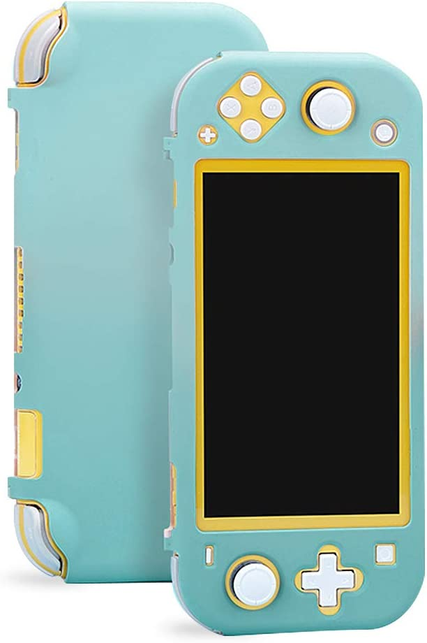 Sunooma Switch Lite Case,Protective Hard Shell,Colorful Case Cover,Hard Cover Back Grip Shell For Nintendo Switch Lite 2019 (green)