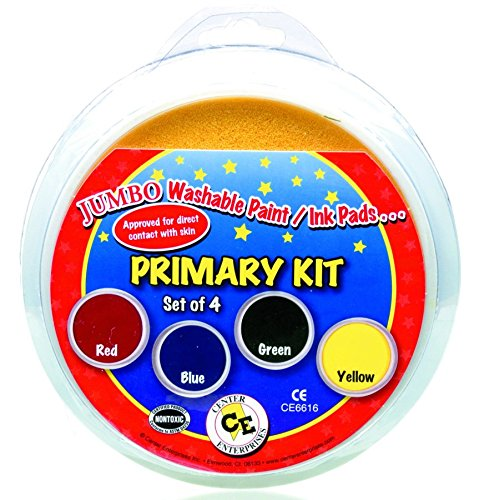 Center Enterprises Ready2Learn Washable paint/Ink Stamp Pads primary set of 4 by Center Enterprise