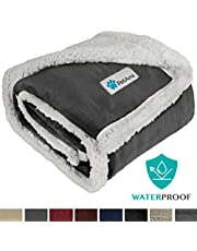 PetAmi Waterproof Dog Blanket for Medium Dogs, Puppies, Small Cats   Soft Sherpa Fleece Pet Blanket Throw for Sofa, Couch   Thick Durable Pet Bed Cover Floor Mat 30 x 40 inches (Charcoal)