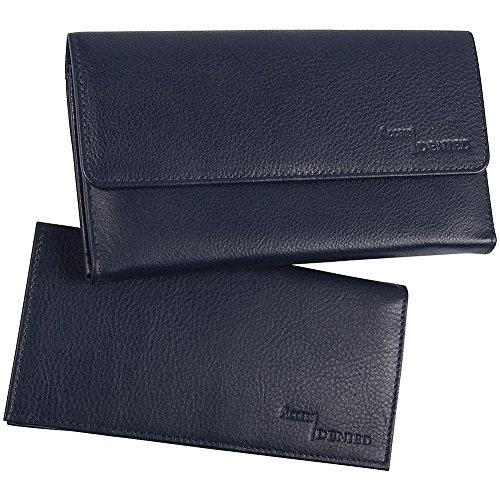 Access Denied Blocking Leather Checkbook