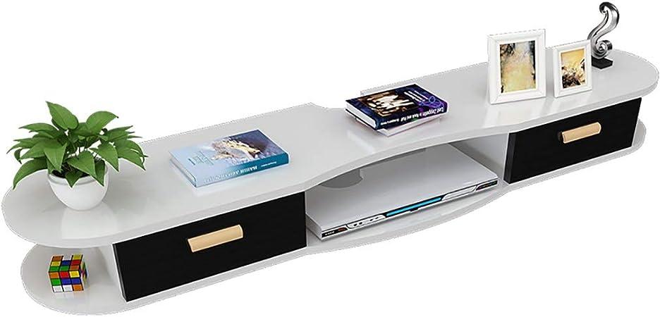 Floating shelf Estante Flotante para TV, Marco de Pared Flotante, WiFi Router Estante, Caja de televisión satelital, Marco Superior para Colgar en la Pared Caja de Almacenamiento: Amazon.es: Hogar