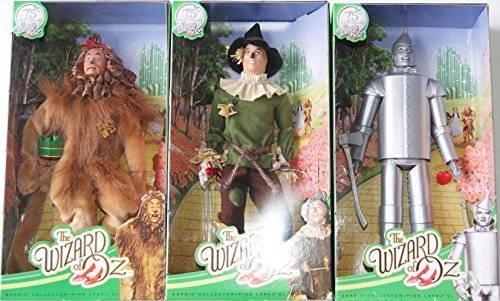 Barbie Collectible Wizard of Oz Doll Set - Scarecrow, Tin Man, and Cowardly Lion ()