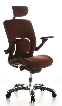 Hjh OFFICE 652010 Chaise De Bureau Haut Gamme Fauteuil Direction VAPOR LUX Cafe