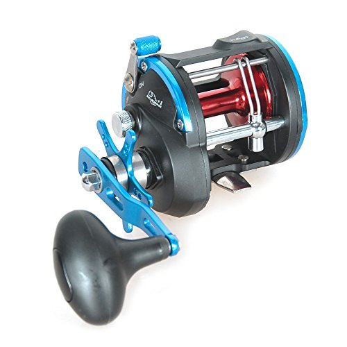 Level Wind Trolling Reel (Piscifun Levelwind Trolling Reel, Blue, Right Hand (ACT30))
