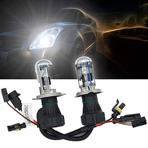 H4 Hid Bulbs 8000K 35w 9003 Xenon Headlight Bulb Bi xenon Light Kit High Low Dual Beam Replacement for Auto Car Automotive Pack of 2