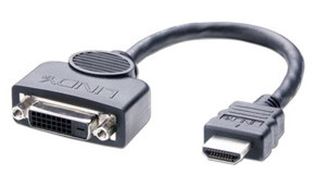0,2 m Lindy Adaptador DVI-D hembra a HDMI macho