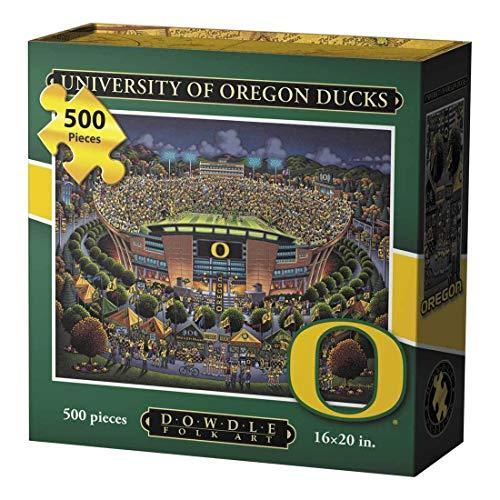 Oregon Ducks Santa - Dowdle Jigsaw Puzzle - University of Oregon Ducks - 500 Piece