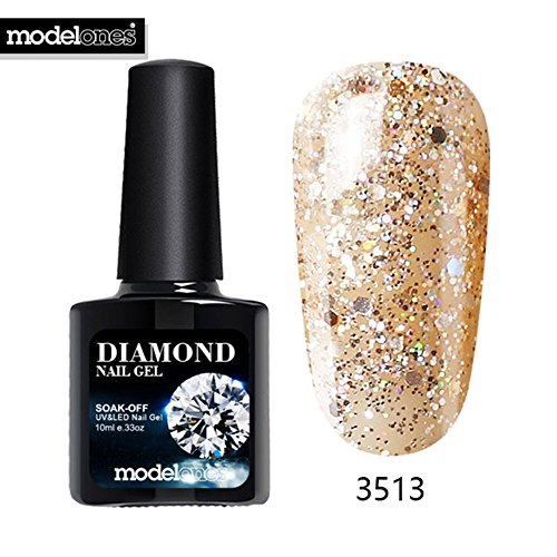 Hot Sale Diamond Nail Gel Blue Color Glitter UV Nail Polish