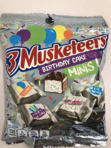 3 Musketeers Birthday Cake Minis 2.26 oz Bag Pack of 2 bags