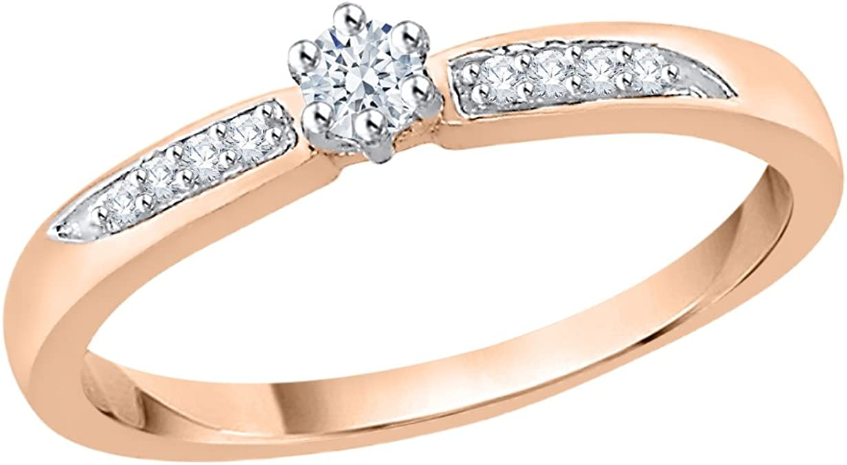 G-H,I2-I3 Size-11.25 3 Diamond Promise Ring in 14K Yellow Gold 1//20 cttw,