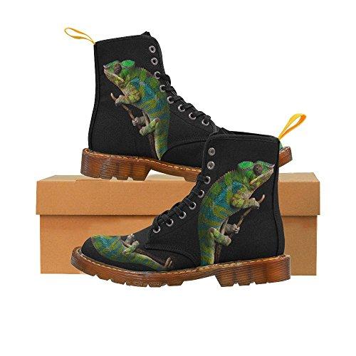D-Story Shoes Chameleon Furcifer Pardalis Ambilobe Lace Up Martin Boots For Men